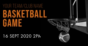 Basketball game Facebook Event Cover template