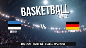 Basketball game facebook cover video template