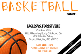 Basketball Game Flyer - Customizable
