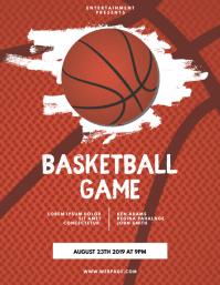 Basketball Game Flyer Template