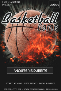 Basketball game flyer template