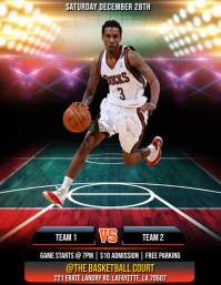 BASKETBALL GAME SPORTS FLYER TEMPLATE