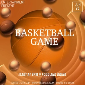 Basketball game video flyer template