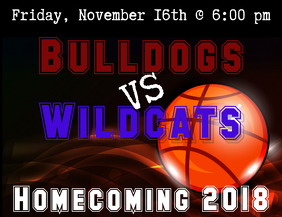 Basketball Homecoming Flyer
