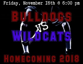 Basketball Homecoming Video Flyer (US Letter) template