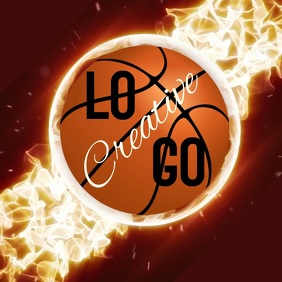 BASKETBALL LOGO Logótipo template