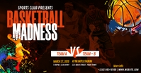 Basketball Madness Facebook Shared Image template