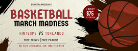 Basketball March Madness Facebook Cover