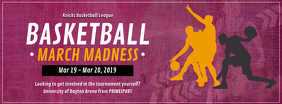 Basketball March Madness Tournament Facebook Cover