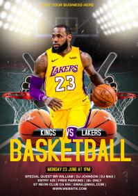 Basketball Match A4 template