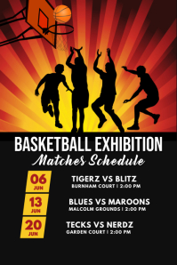 basketball exhibition matches template Poster