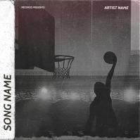basketball mixtape cover art design template Sampul Album