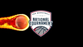 Basketball National Tournament Event Template Ikhava Yevidiyo ye-Facebook (16:9)