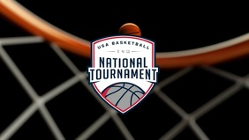 Basketball National Tournament Template Ikhava Yevidiyo ye-Facebook (16:9)