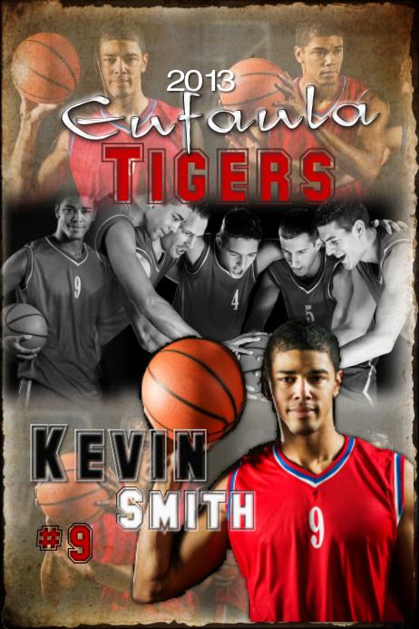 Basketball team poster โปสเตอร์ template
