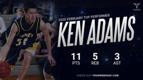 Basketball Player Ad Video template