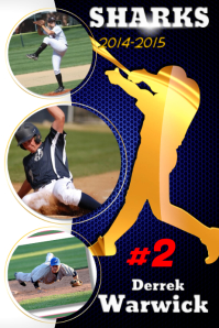 baseball collages poster templates postermywall