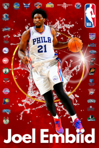 Basketball Player Poster template