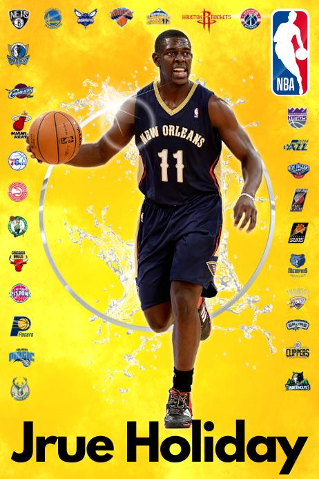 Basketball Player Poster template