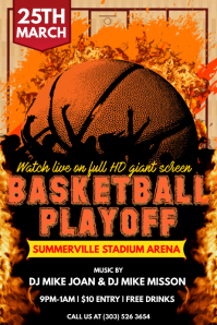 Basketball Playoff Poster