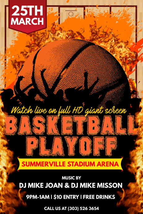 Basketball Playoff Poster