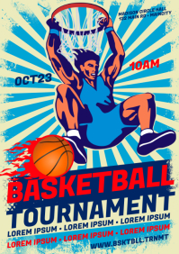 BASKETBALL POSTER A4 template