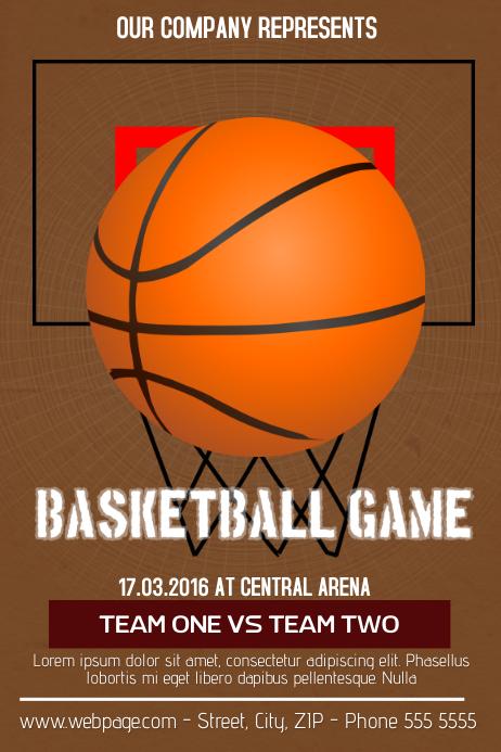 basketball flyer template Plakkaat