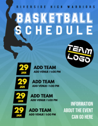 Basketball Schedule and Flyer