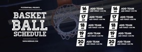 Basketball schedule facebook cover template