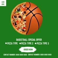 Basketball Special Pizza Deals Flyer Instagra Instagram Post template