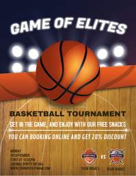 Basketball Sports Flyer Template