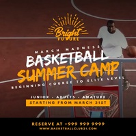 Basketball Summer Camp 2021 Template Instagram Plasing