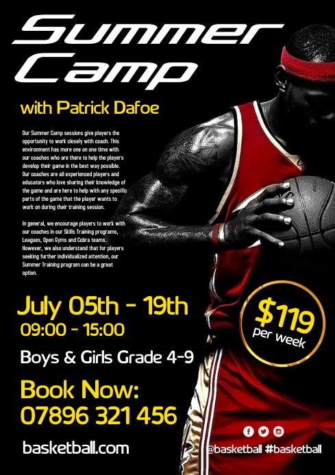 Basketball Summer Camp Flyer
