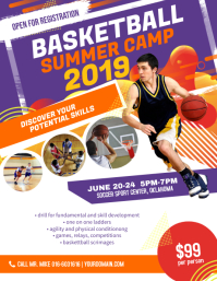 Basketball Summer Camp Flyer Poster