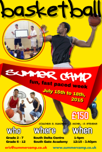 Basketball Summer Camp Poster