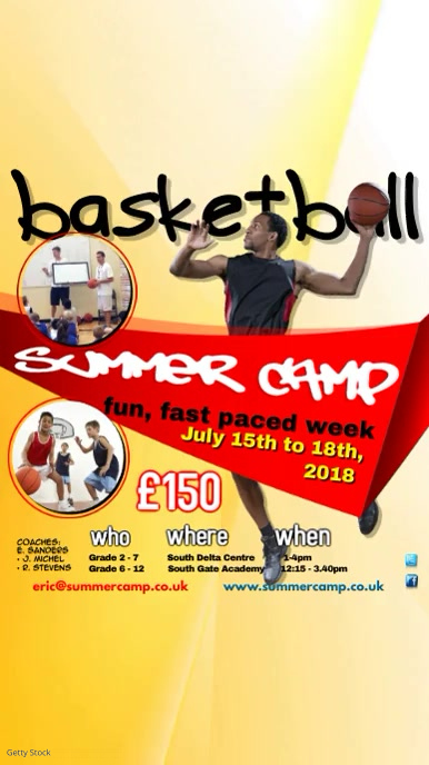 Basketball Summer Camp Video Template