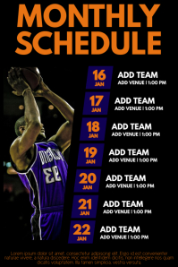 Basketball Team Schedule Flyer Template