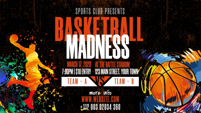 Basketball Tournament Ad Twitter Post template