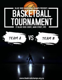 Basketball Tournament Flyer (US Letter) template
