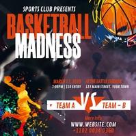 Basketball Tournament โพสต์บน Instagram template