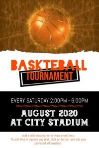 Basketball Tournament Affiche template