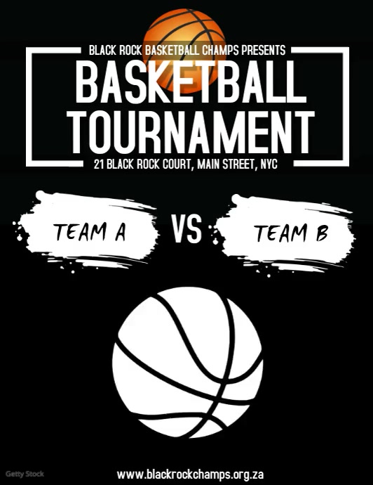 Basketball Tournament Volantino (US Letter) template