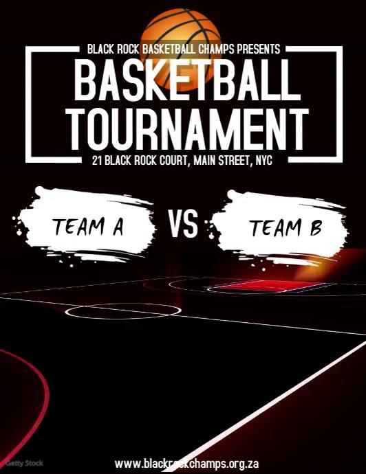 Basketball Tournament Volante (Carta US) template