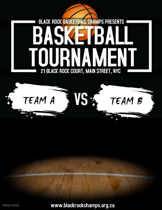 Basketball Tournament Volantino (US Letter) template