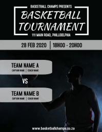 Basketball Tournament Flyer (format US Letter) template