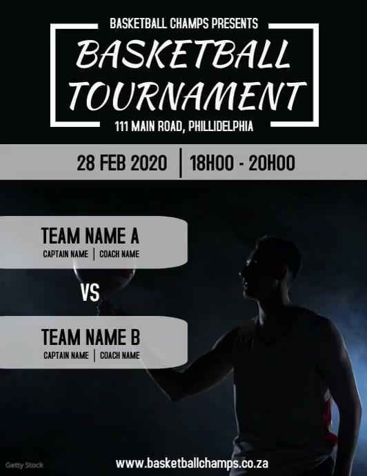 Basketball Tournament Flyer (Letter pang-US) template
