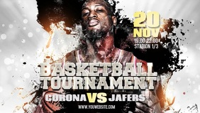 Basketball Tournament Facebook Banner Video