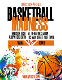 Basketball Tournament Flyer Pamflet (Letter AS) template