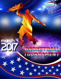 Basketball Tournament Template Flyer (US Letter)