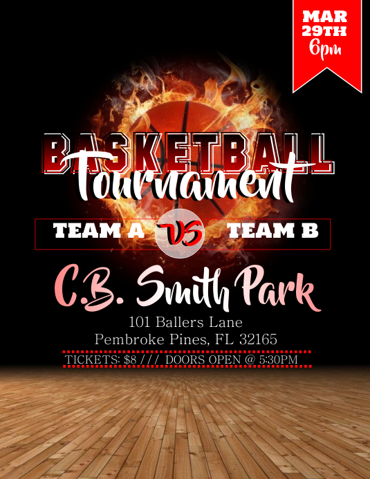 basketball tournament flyer template postermywall